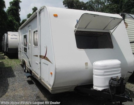 Tt9662 2005 jayco jay feather lgt 29y two bedroom slideout for sale in williamstown nj for Two bedroom travel trailers for sale