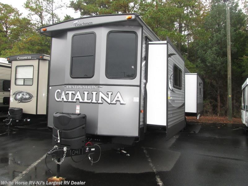 2017 Coachmen Catalina 39RLTS Rear Living Triple Slide King Bed Fireplace. FR1649   2016 Coachmen Catalina 40TSHB TRIPLE SLIDE 2 BEDROOM for
