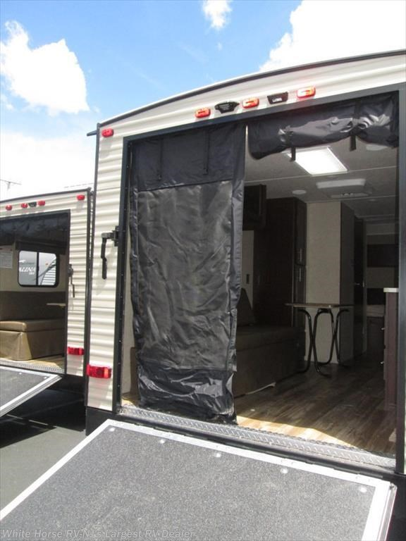 2017 forest river rv grey wolf 19rr front queen rear for Rv garage doors for sale