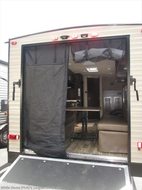 2018 Forest River Grey Wolf  26RR Front Queen Rear Garage with Ramp Door