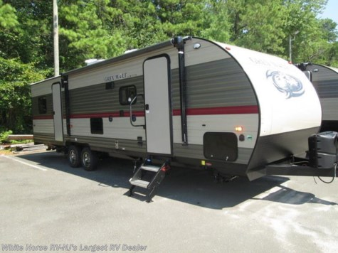 2018 Forest River Grey Wolf  27RR Slide-out Enclosed Rear Garage w/Ramp Door