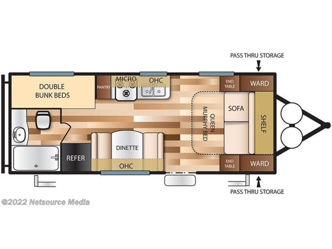 2017 Forest River Salem Cruise Lite T201BHXL floorplan image