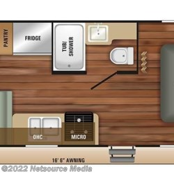 2018 Starcraft Autumn Ridge Outfitter 21FB floorplan image