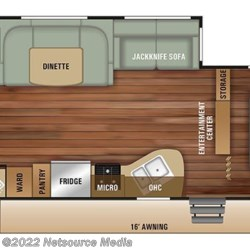 2019 Starcraft Launch Outfitter 27BHU floorplan image