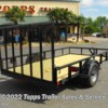 "Topps Trailer Sales & Service Inc 2018 77""X12' PIPE TOP 4' RG  Utility Trailer by Stagecoach 