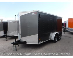 "#629922 - 2016 RC Trailers 7x14TA Enclosed 6'6"" Interior Cargo - Charcoal"