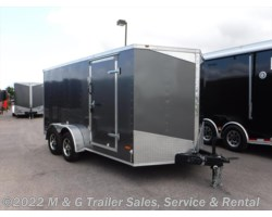 "#629923 - 2017 RC Trailers 7x14TA Enclosed 6'6"" Interior Cargo - Charcoal"