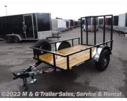 #262729 - 2017 H&H  5x8 Rail Side Utility Trailer - Black