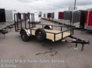 2017 H&H Trailers H&H 8x10 Rail Side Utility - Black Ramsey, Minnesota