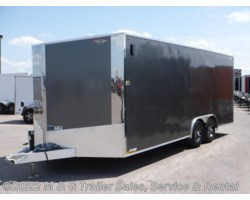"#264208 - 2017 H&H  8.5x24 Enclosed 6'6"" Int 10k Car Hauler - Charcoal"