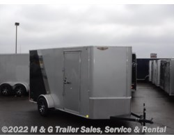 "#268200 - 2017 H&H  6x12 Enclosed 6'6"" Interior Cargo - Silver/Black"
