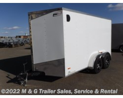 "#632065 - 2017 RC Trailers 7x12TA Enclosed 6'6"" Int. Cargo - White"