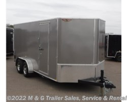 "#270553 - 2017 H&H  7x16TA Enclosed 6'6"" Int Cargo 10k BD - Pewter"