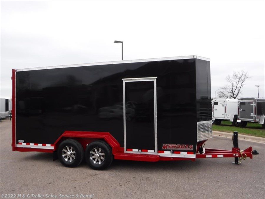2017 Midsota SL-18E Enclosed Scissor Lift Trailer - Red/Black