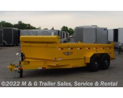 #272832 - 2017 H&H  14' Dump 14k Trailer - Yellow
