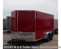"#272609 - 2017 H&H  7x14 Enclosed 6'6"" Int Cargo - Red"