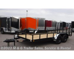 #273349 - 2017 H&H  8.5x16 Rail Side Utility Trailer - Black