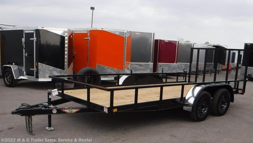 2017 H&H  8.5x16 Rail Side Utility Trailer - Black
