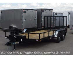#273347 - 2017 H&H  8.5x16 Rail Side Utility Trailer - Black