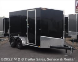 "#277165 - 2018 H&H  6x12 Enclosed 6'6"" Int Cargo - Black"