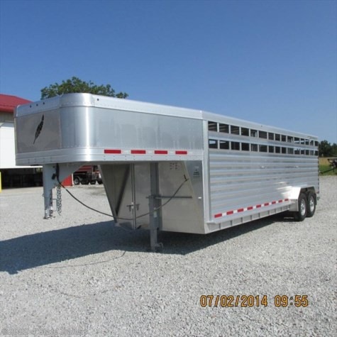 2014 Featherlite 7x24 8127 Stock Trailer New Livestock Trailer Ok I1255185 on wiring diagram for utility trailer