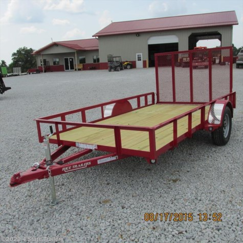 RT09490 2015 Rice Trailers 76x12 Utility Trailer for