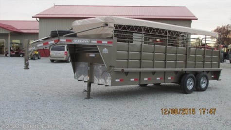 dt04262 2016 delco 6 8 x20 tarp top stock trailer for in new 2016 delco 6 8 x20 tarp top stock trailer for by