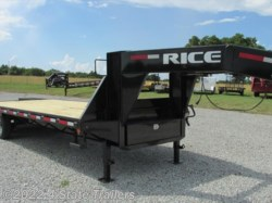 2016 Rice Trailers  102x25 GOOSENECK FLATBED
