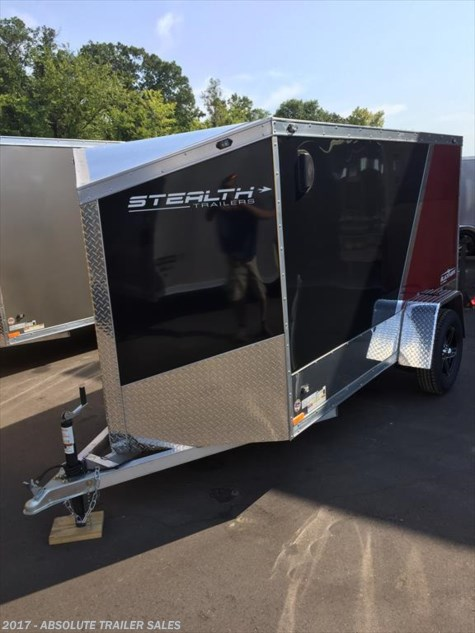 2016 Stealth Black Hawk  All Aluminum Enclosed  1 Place Motorcycle Trailer