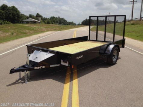 2016 Rice Trailers Stealth  Steel Utility Trailer