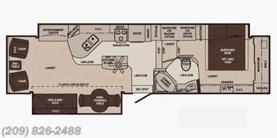 2011 Carriage Cameo 36FWS floorplan image