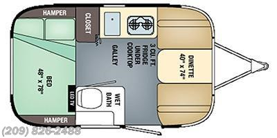 2016 Airstream Sport 16 floorplan image