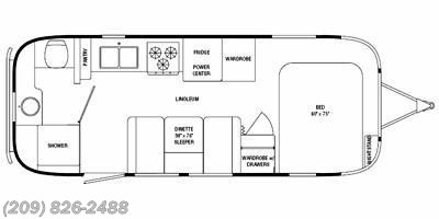 2010 Airstream Flying Cloud 23FB floorplan image