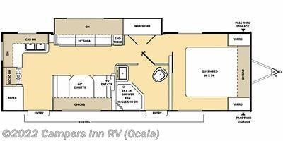 2015 Coachmen Catalina 253RKS floorplan image