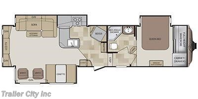 2013 Keystone Cougar 327RES floorplan image