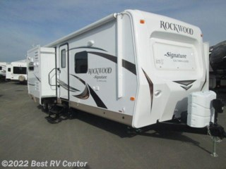 Turlock, California - New 2015 Forest River Rockwood Signature Ultra Lite 8293IKRBS PLATINUM P Three Slide Outs / Rear Bath  available from Best RV Center