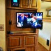 TV Mounted on to View From Several Angles
