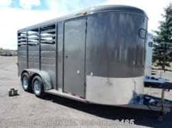 2017 CM Trailers Dakota 3 Horse Slant with feed windows