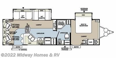 2011 Forest River Rockwood Signature Ultra Lite 8314BSS floorplan image