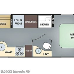 2018 Airstream International Serenity 27FB floorplan image
