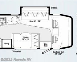 2008 Winnebago View 24H floorplan image