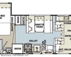 2015 Forest River Sunseeker LE 2250S floorplan image