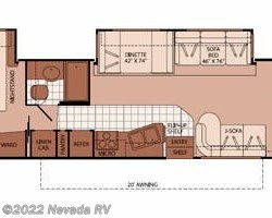 2008 Fleetwood Bounder 34G floorplan image