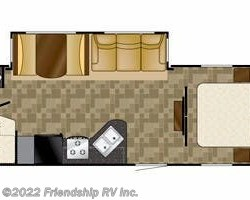 2012 Heartland RV North Country NC 27FQBS SLT floorplan image