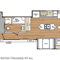 2017 Coachmen Catalina Destination 39MKTS floorplan image