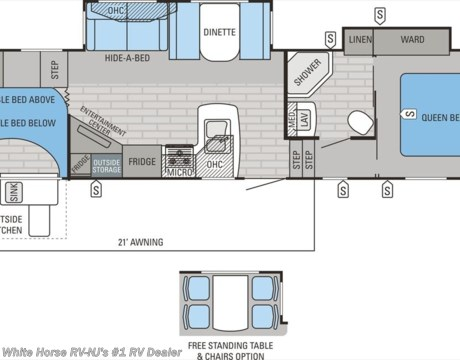 J9741 2015 Jayco Eagle Ht 29 5 Bhds Two Bedroom Double Slideout For Sale In Williamstown Nj