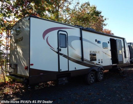 J9938 2015 jayco eagle 284bhbe two bedroom u dinette sofa slideout for sale in williamstown nj for Two bedroom travel trailers for sale