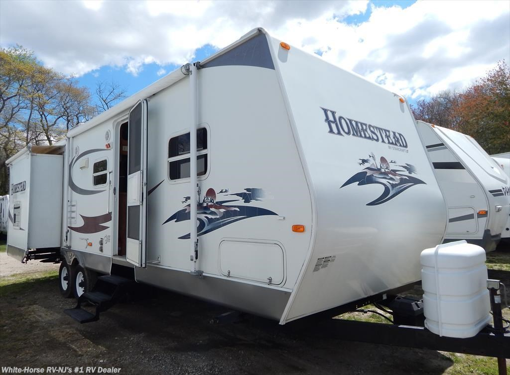 Used starcraft homestead travel trailer classifieds 2007 starcraft homestead lite 282bhs two for Two bedroom travel trailers for sale