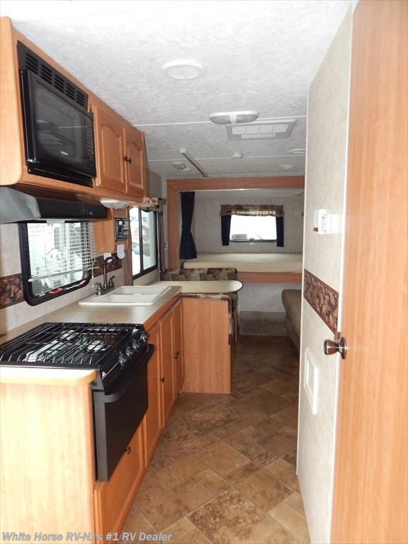 2008 keystone rv passport 240qs front bunk bedroom rear for Kitchen cabinets 08094