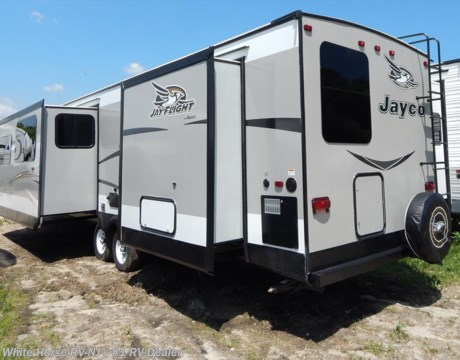 J10275 2016 jayco jay flight 38bhds 2 bedroom double slideout for sale in williamstown nj for Two bedroom travel trailers for sale